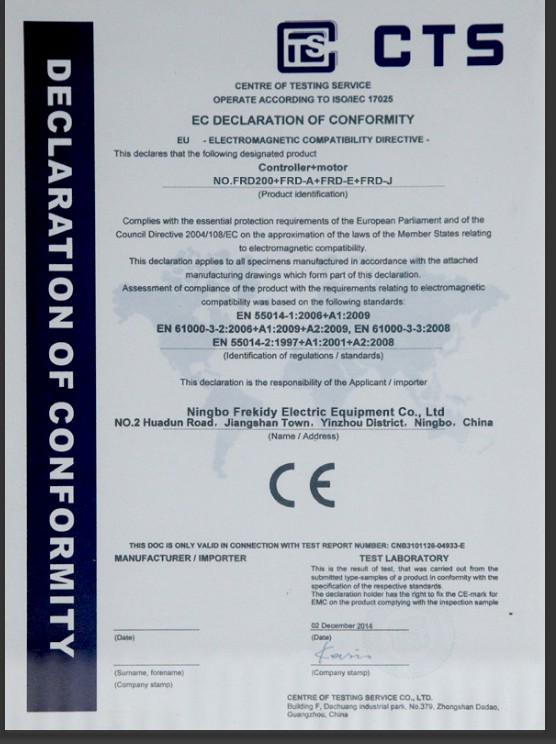 CE for automatic sliding door operator