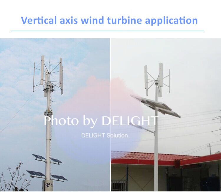 Vertical axis wind turbine with maglev generator application