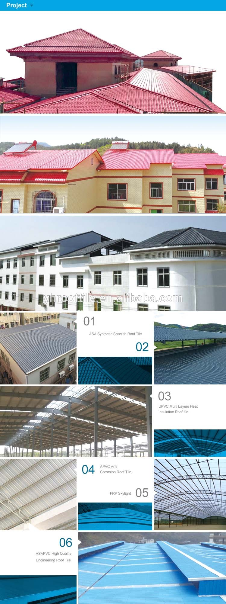roof tile project around Asia