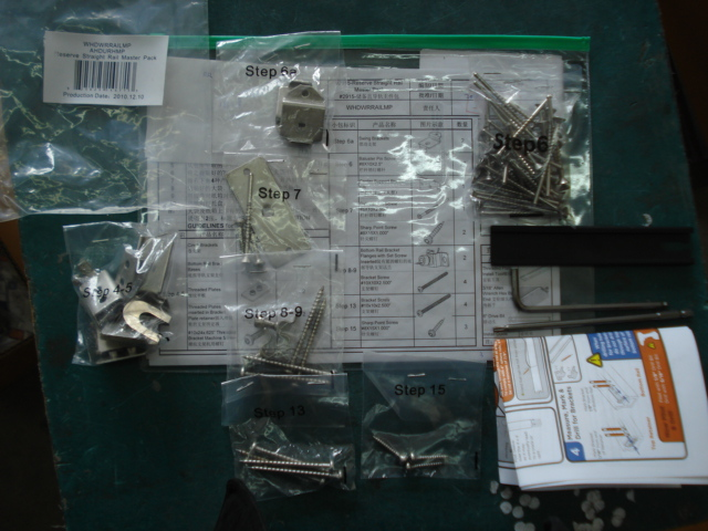 Packing with assembly sheet