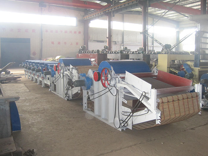 automatic textile waste recycling line