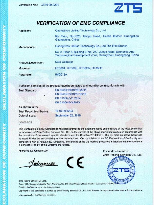 CE of HT380W