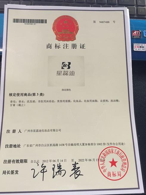 Certificate of Registration of Trademark