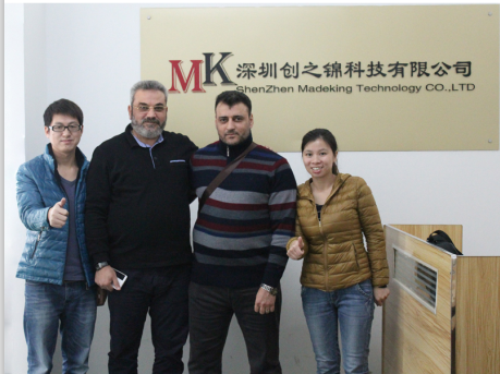 Customers from Duibai visit our factory