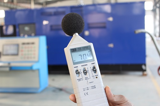 Factory testing for enclosure, Noise testing and load testing