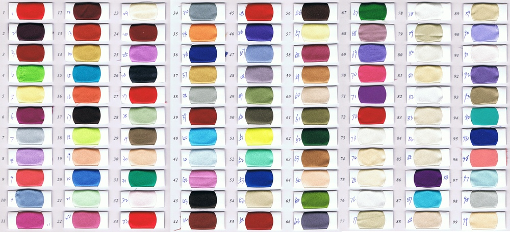 Fabrics Color Swatches for Dresses