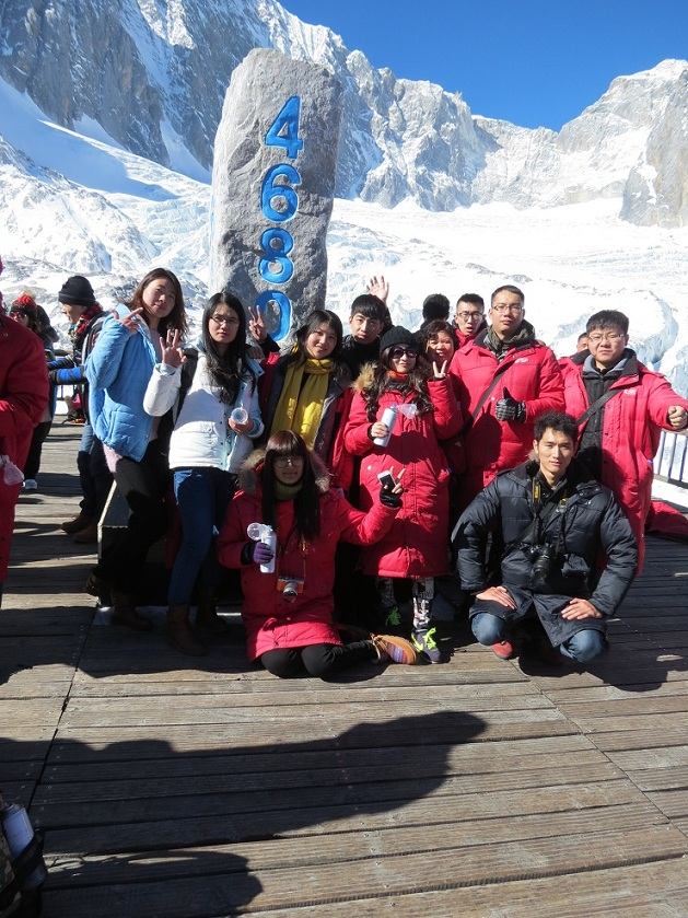The highest we reached at Yulong snow mountain