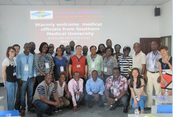 Welcome the foreign learners from Southern Medical University to visit our company