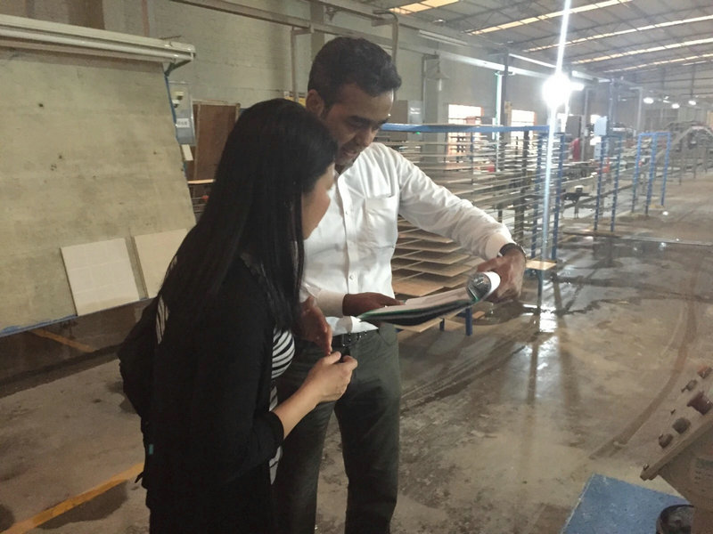 To visit the factory with customer