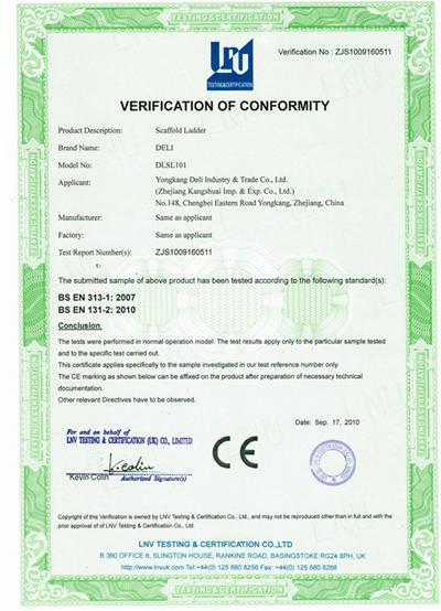 CE Approval Scaffolding Ladder