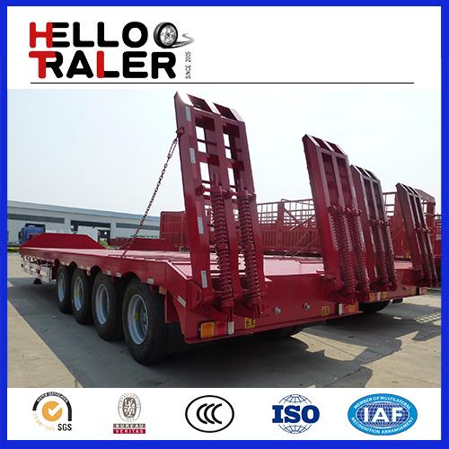 Heavy duty 4 axle 80 ton low loader trailer