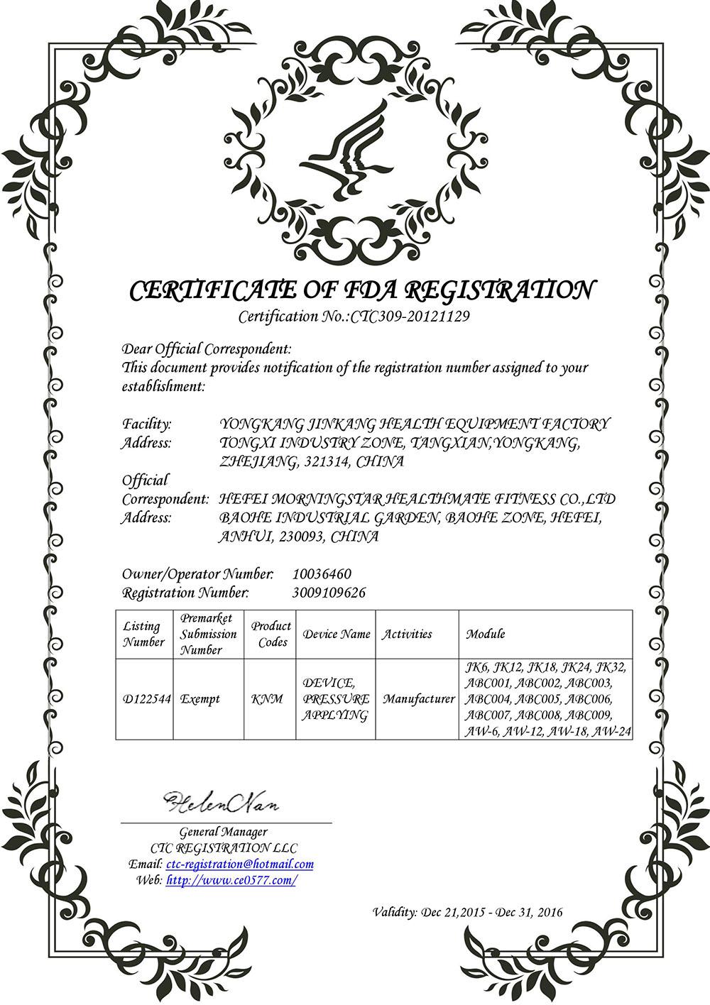 CFDA License-CTC309-20121129