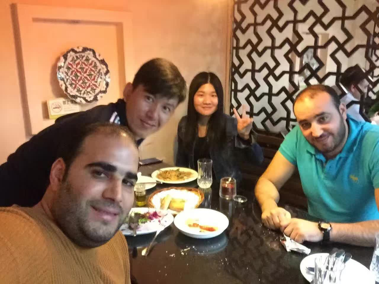 Have a lunch with Tunisia Customer