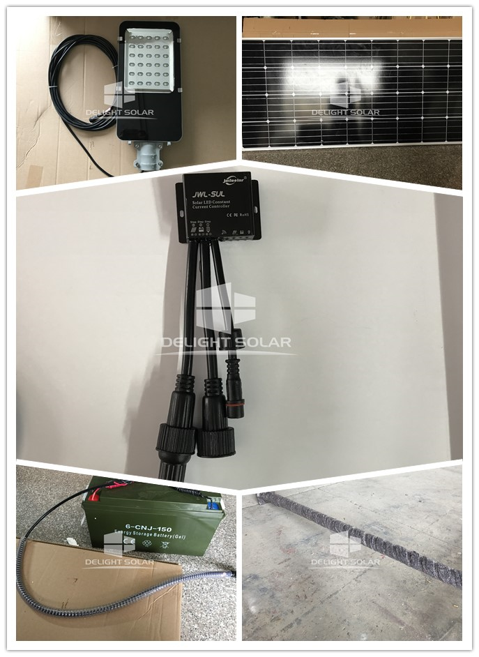 6M 30W SOLAR STREET LIGHT WILL BE APPLIED IN UNITED STATES @DELIGHT