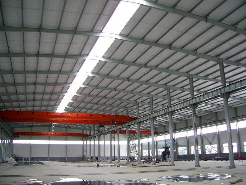Steel Framed Factories : Prefabricated design large span light steel frame