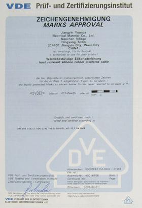 VDE Certificate