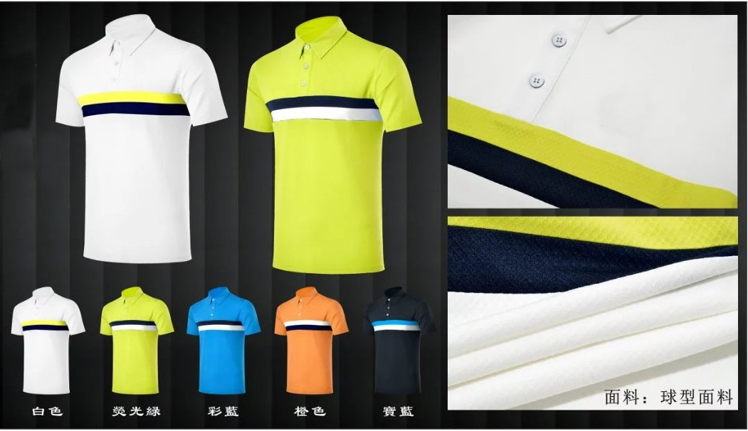 OEM golf short sleeve T-shirt dry fit summer sports shirts