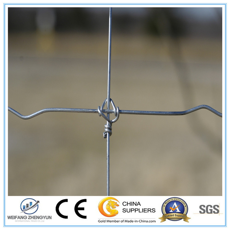 Galvanized Steel Fixed Knot Field Fence