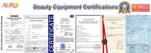 Beauty Equipments Certificates