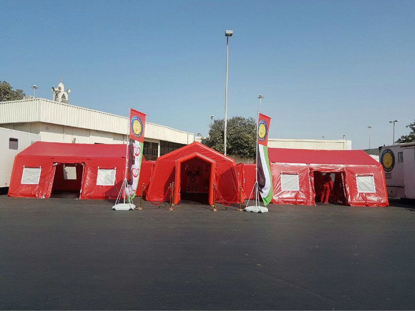 our medical tent in UAE