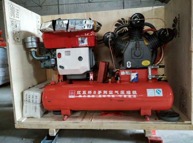 Diesel Piston Air Compressor and YT28 Rock Drill