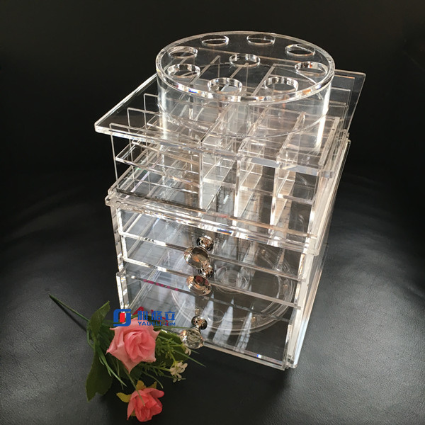 luxury glamrous vanity spinning acrylic lipstick tower holder