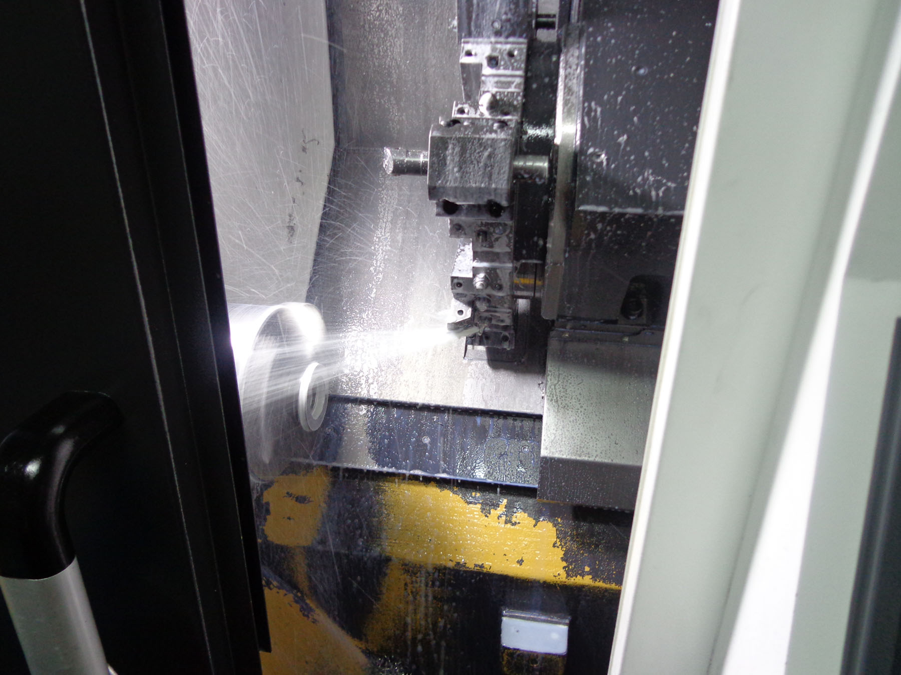 CNC machine working