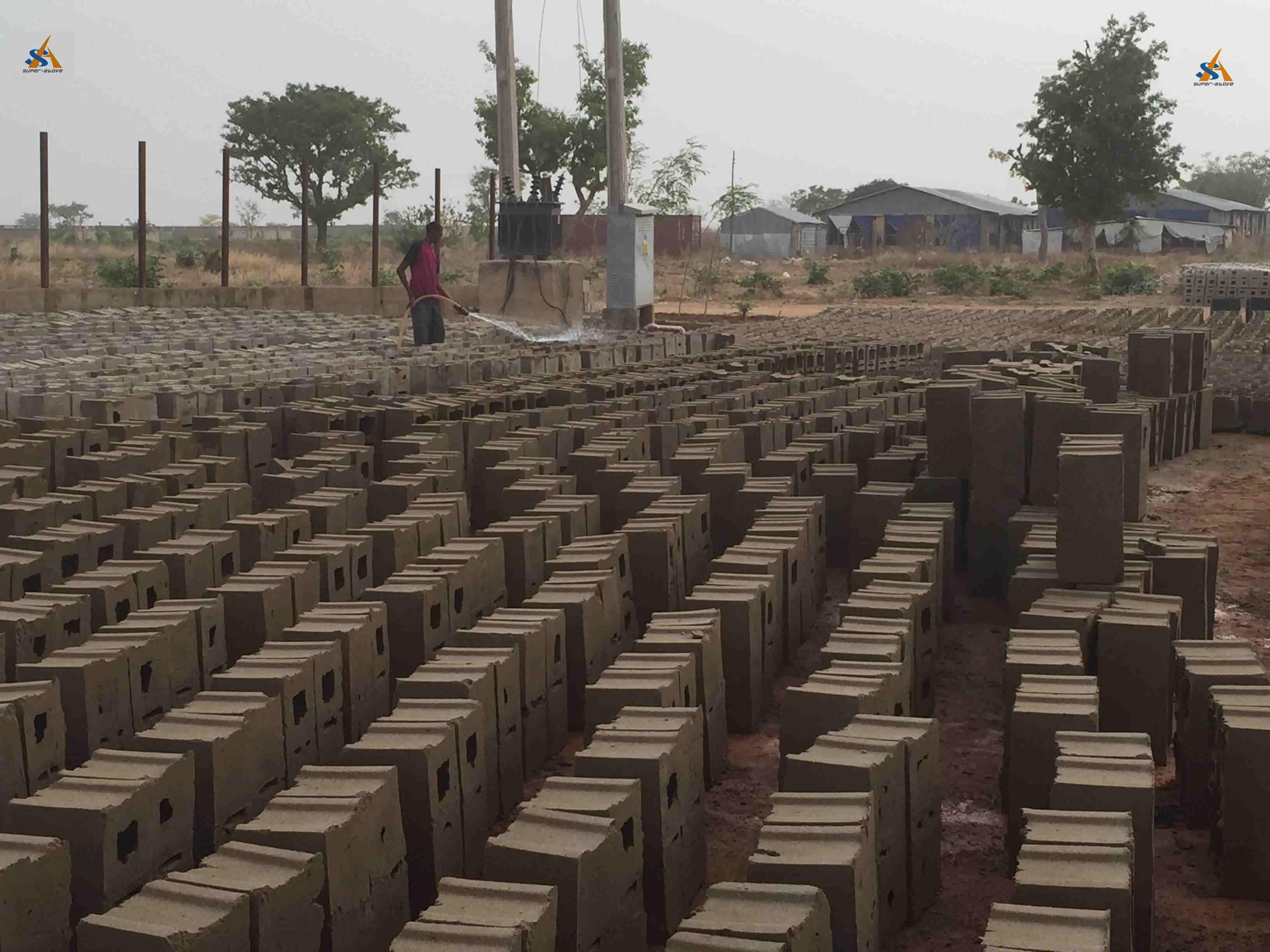 Block factory in Africa