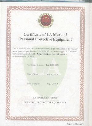 certificate LA