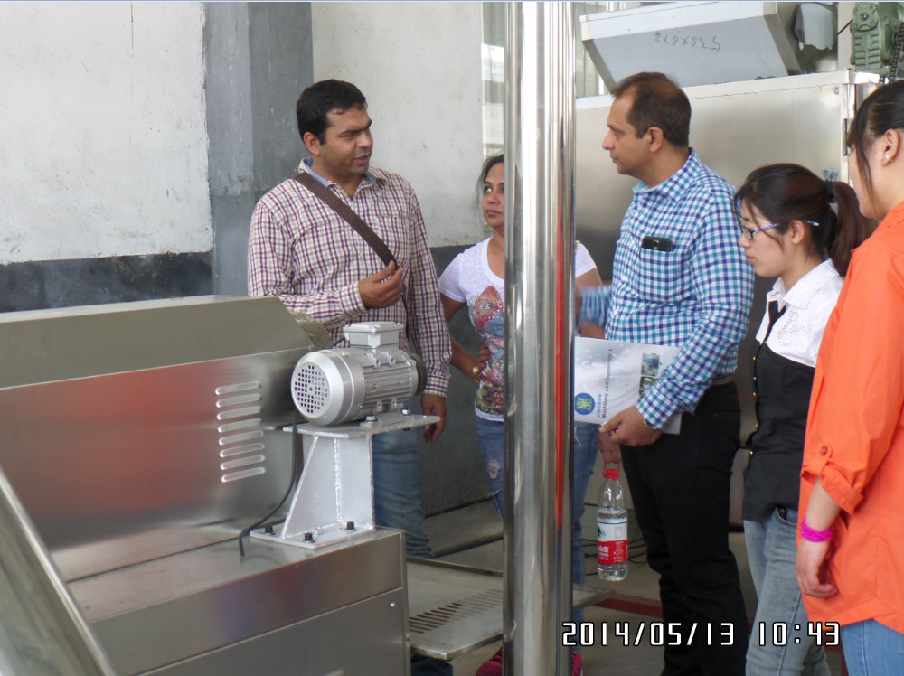 Checking machine in our factory