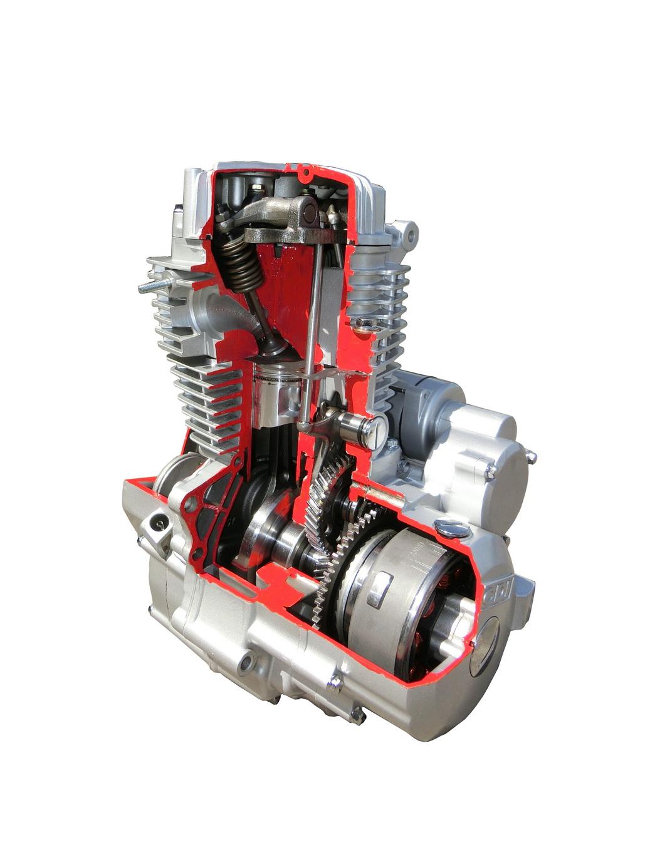 CG125 ENGINE SIDE CUT FIGURE