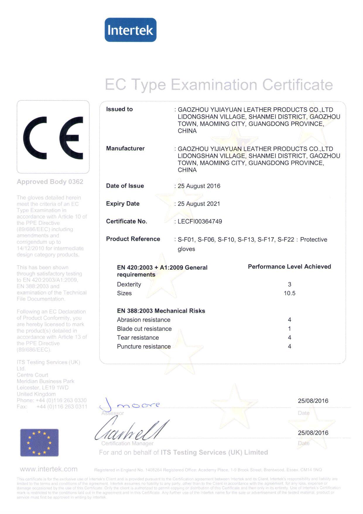 CE EN388