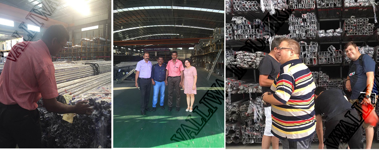 customers visiting factory