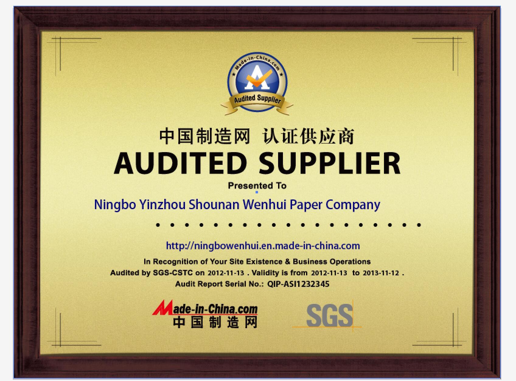 SGS CERTIFICATE,FSC, BSIC, ISO9001, ISO14001,