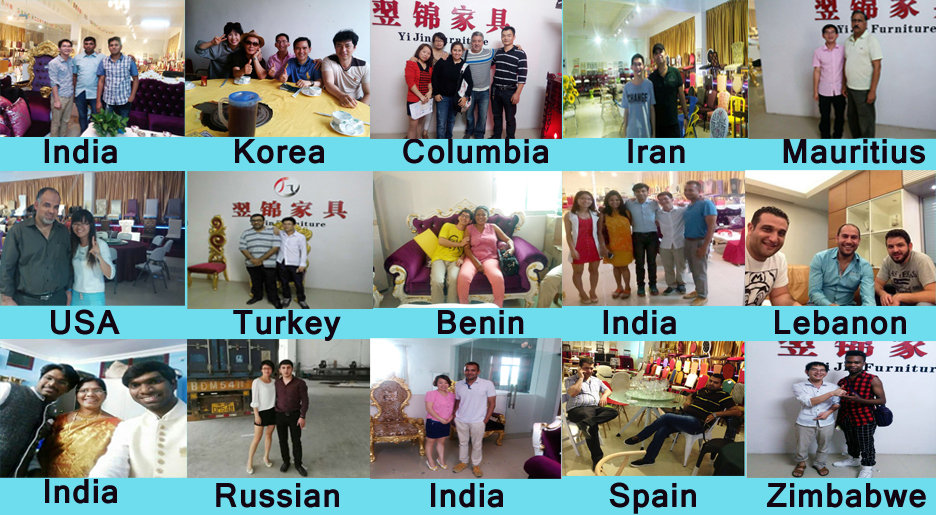 Customers visit our factory and showroom