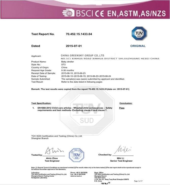 Certificate EN1888