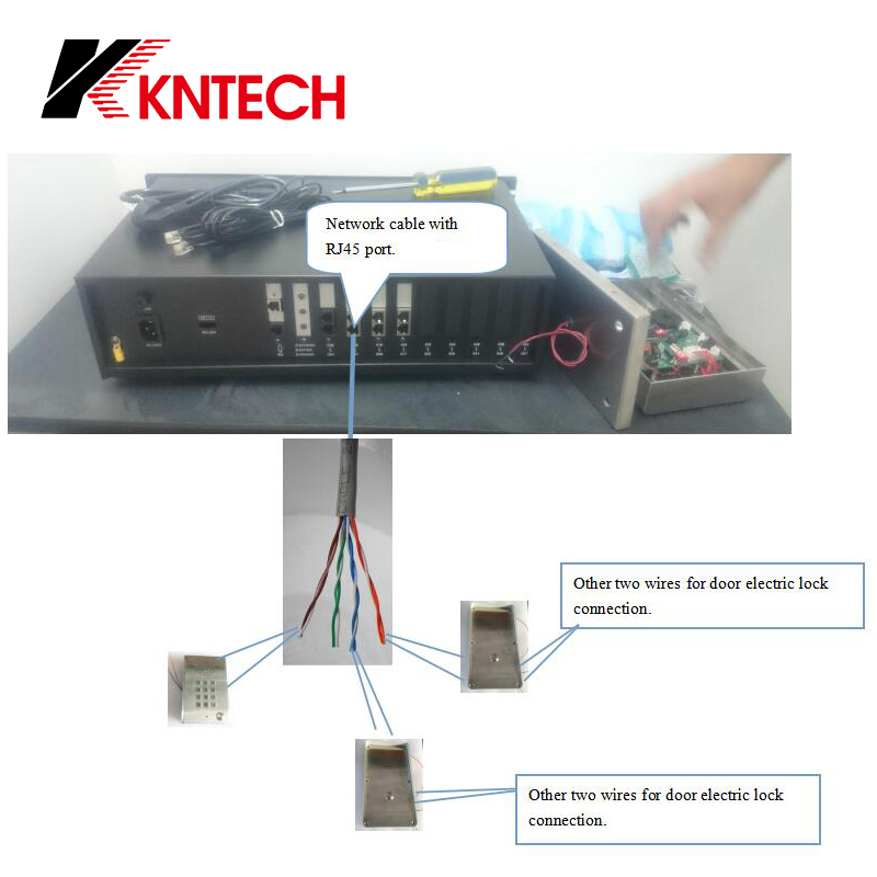 Wiring Conncetion about the PAB for gate door open access control kntech