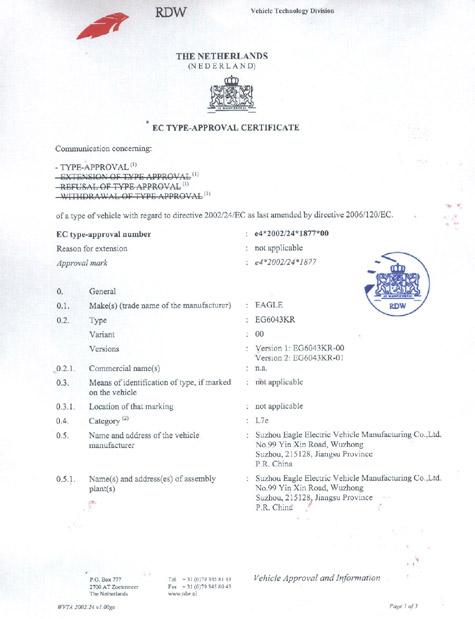 eec certificate eu market