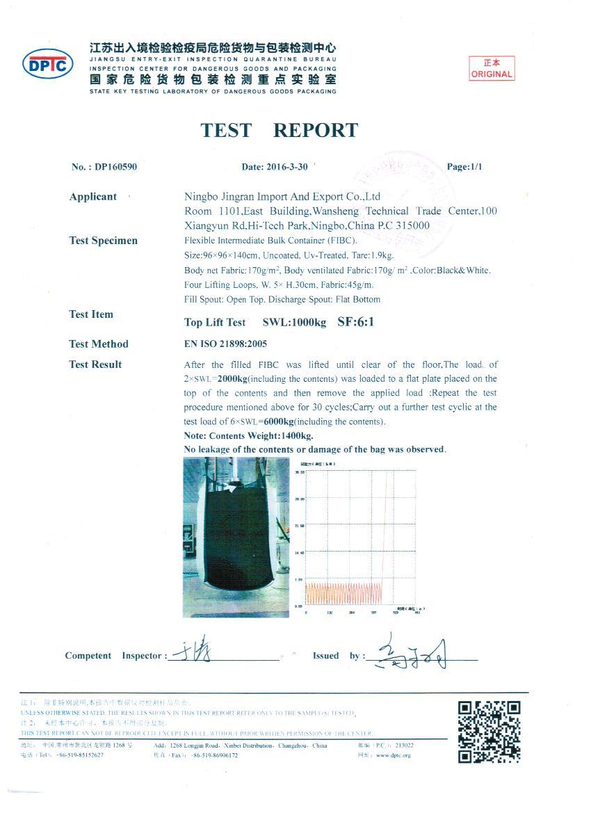 6:1 Safe Factor certificate