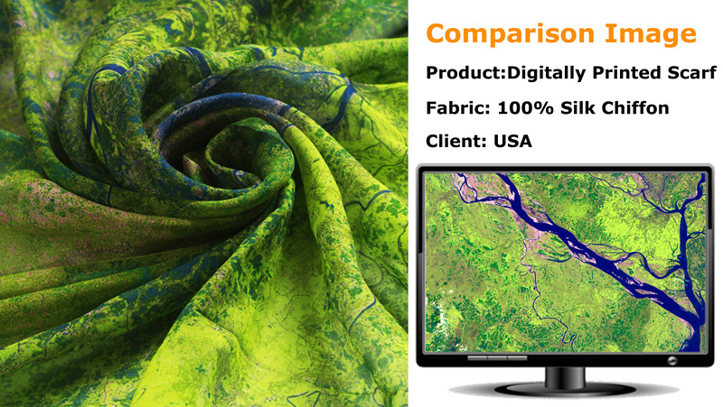 Custom Digital print silk scarfs