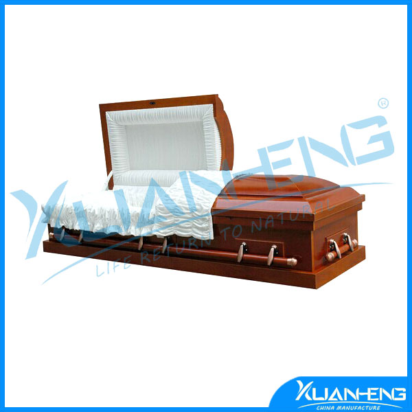 Low End Cheap Wood Coffin Engraved for Spanish Market