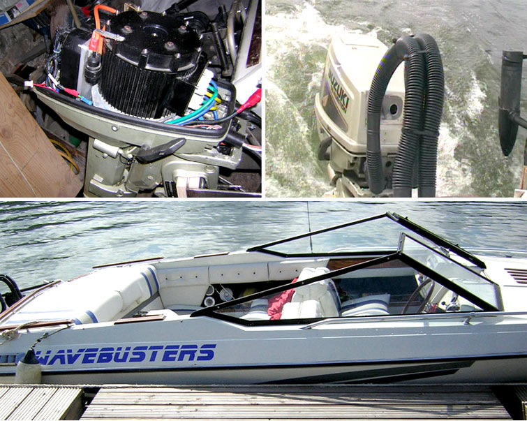 elctric boat with 10KW BLDC motor