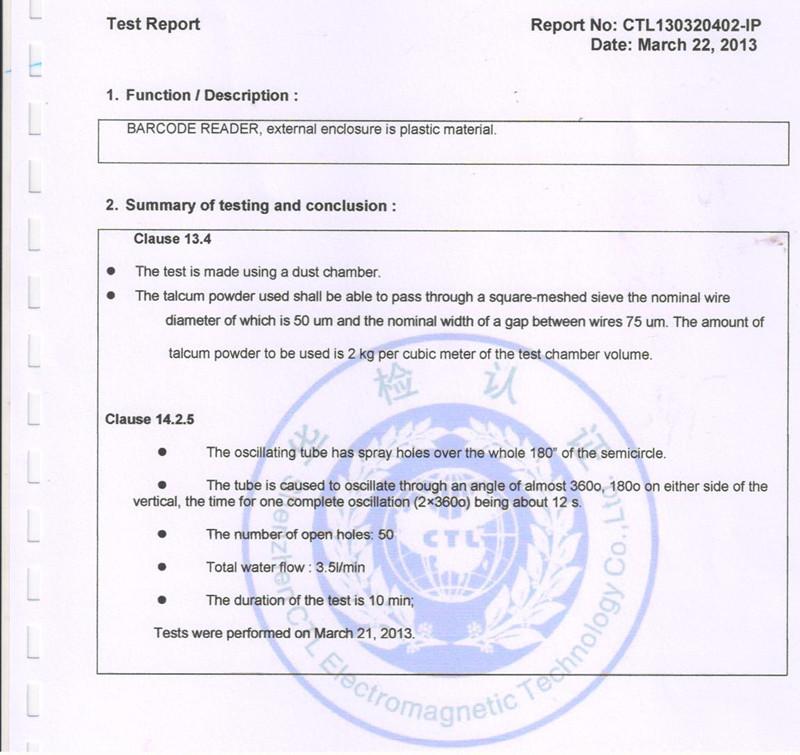 IP55 Test Report-2