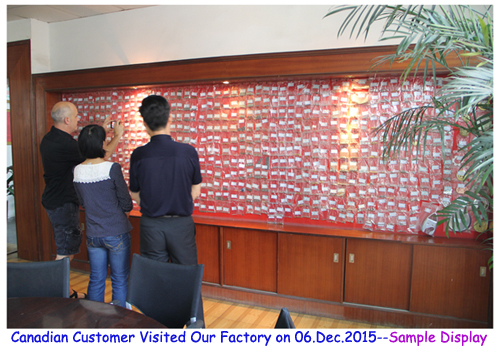 The new customer from Canada placed an order after visiting the factory on Dec. 06,2015