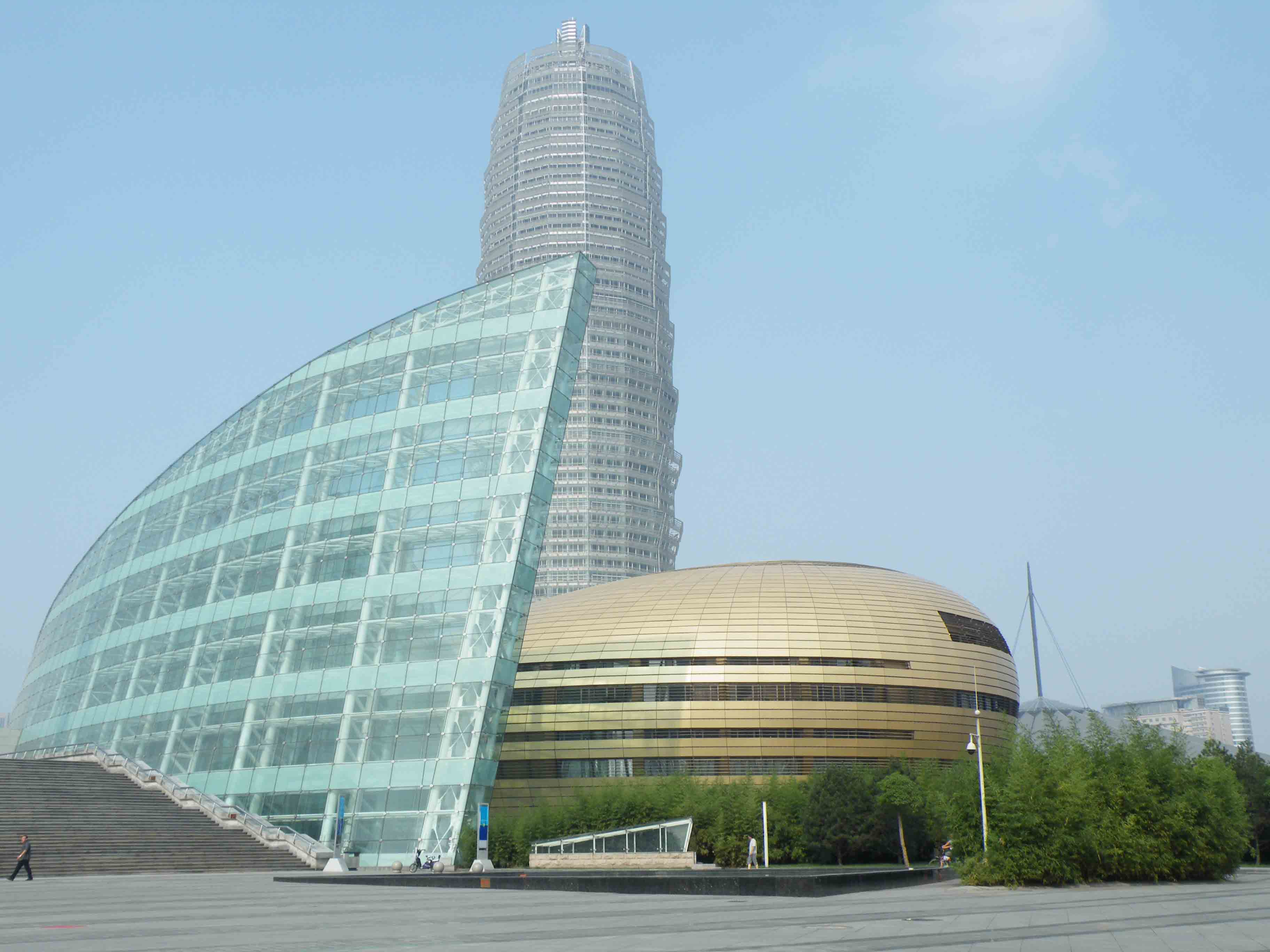 International Conference Center with lay in ceiling, curtain wall