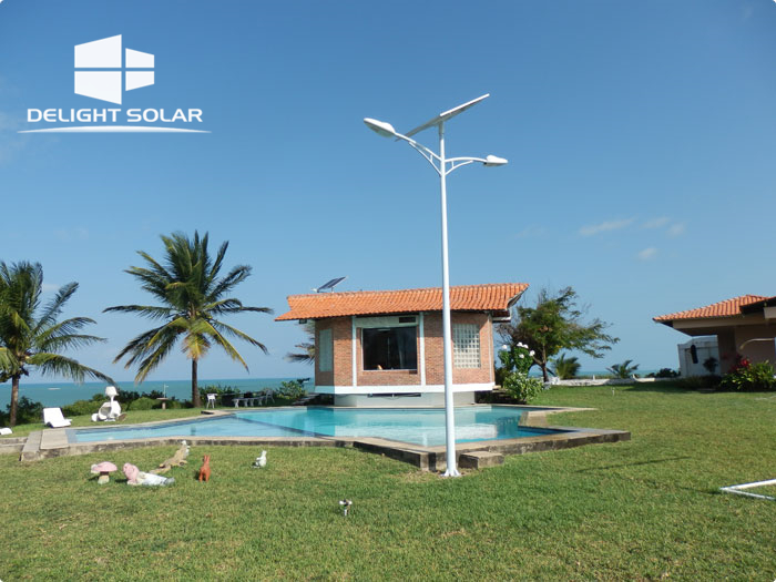 6M 35W SOLAR STREET LIGHT WITH DOUBLE ARM - BRAZIL, March, 2016