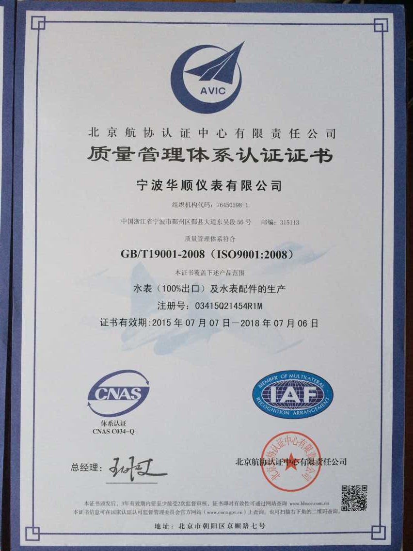 ISO 9001 in Chinese