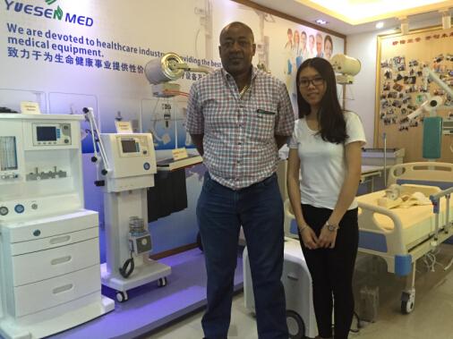 Paula met Namibia customer on X-ray room items