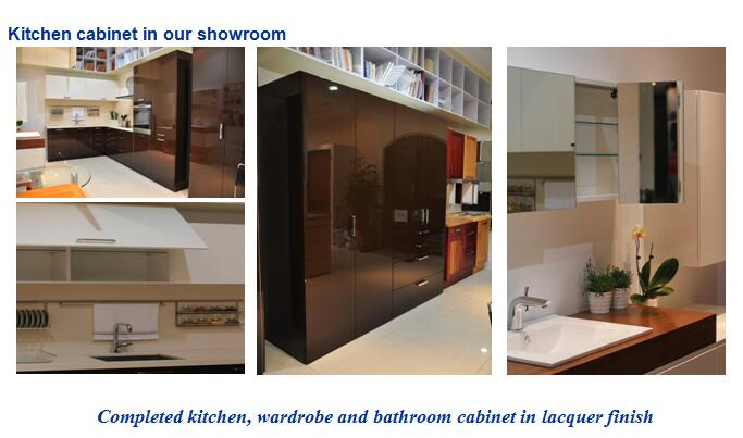 Kitchen cabinet in our showroom
