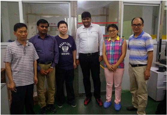 Indian customer visiting our factory